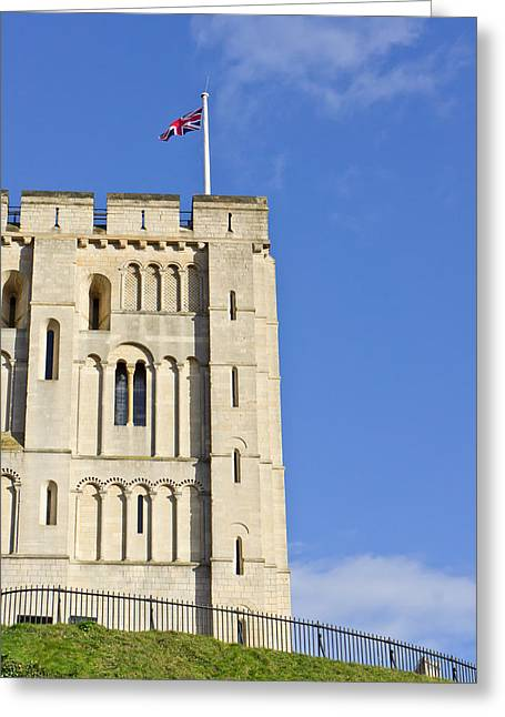 Norwich Castle Greeting Card by Tom Gowanlock