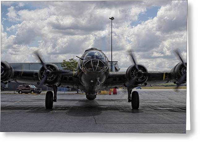 Historic Aviation Greeting Cards - Nose To Nose Greeting Card by Peter Chilelli
