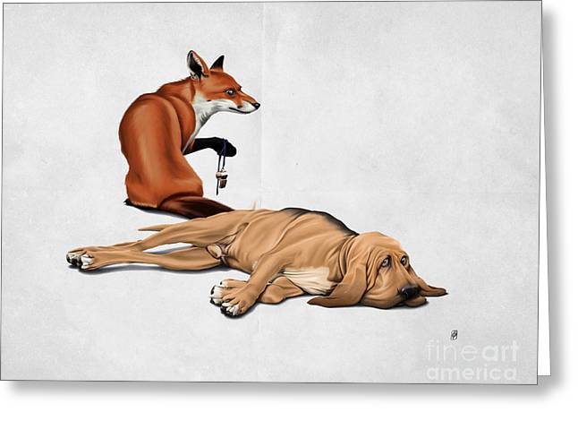 Lazy Dog Greeting Cards - Not So Wordless Greeting Card by Rob Snow