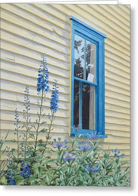 Clapboard House Paintings Greeting Cards - Noteworthy Greeting Card by Karen Richardson