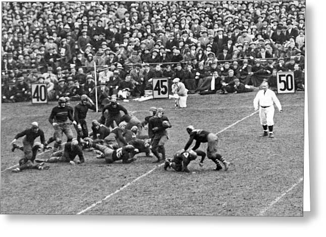 Notre Dame-army Football Game Greeting Card by Underwood Archives
