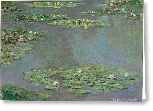 Pond Paintings Greeting Cards - Nympheas Greeting Card by Claude Monet
