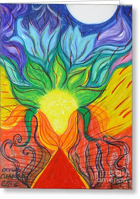Spectrum Pastels Greeting Cards - Occupy Your Chakras Greeting Card by Jaz Klinski