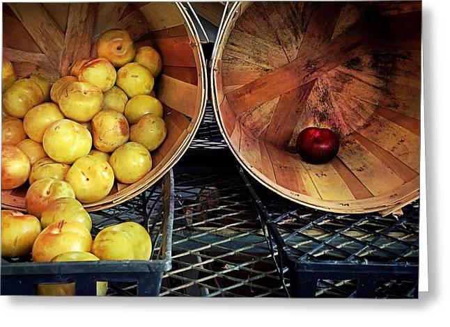 Farm Stand Greeting Cards - Odd One Out Greeting Card by Benjamin Garvin