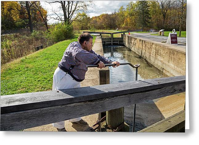 Ohio And Erie Canal Greeting Card by Jim West