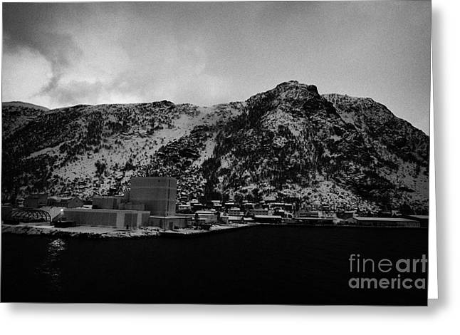 Norwegian Sea Greeting Cards - Oksfjord During Winter Norway Europe Greeting Card by Joe Fox