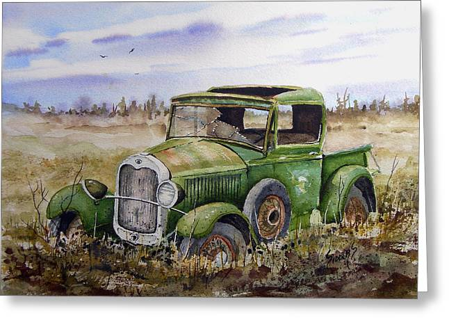 Pickup Greeting Cards - Old 29 Greeting Card by Sam Sidders