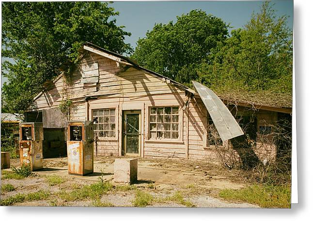 Selma Greeting Cards - Old Abandoned Gas Station - Selma Alabama Greeting Card by Mountain Dreams