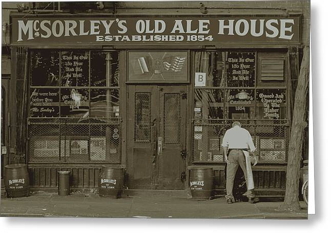 Greenwich Village Greeting Cards - Old Bar  Greeting Card by ADT Gallery