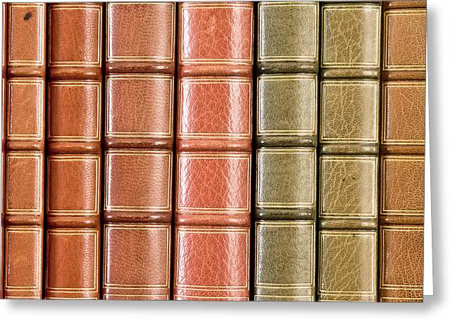 Valuable Greeting Cards - Old books Greeting Card by Tom Gowanlock