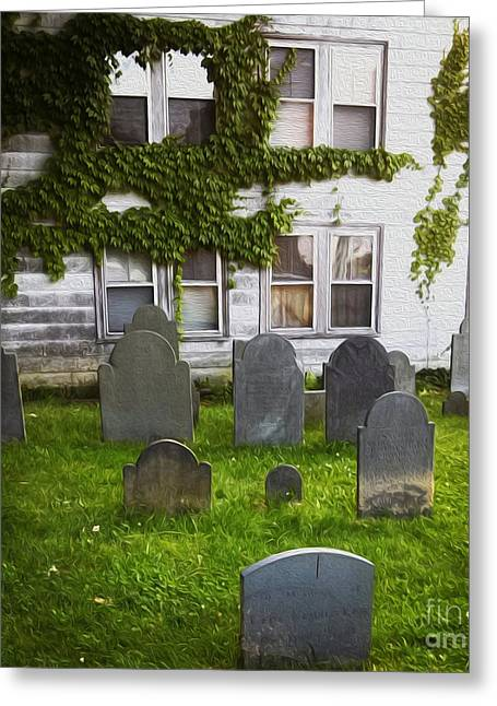 Gregory Dyer Digital Greeting Cards - Old Burying Point Cemetery Salem Massachusetts Greeting Card by Gregory Dyer