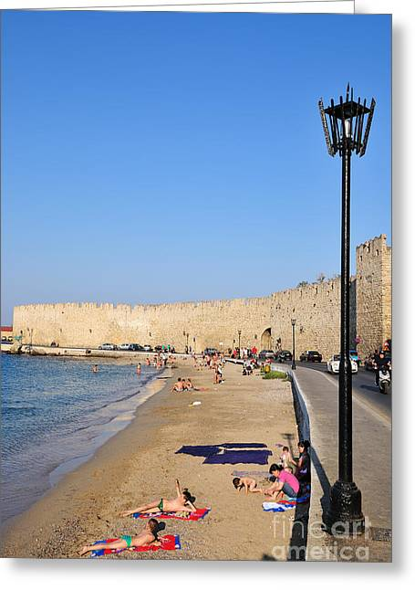 Dodekanissos Greeting Cards - Old city of Rhodes Greeting Card by George Atsametakis