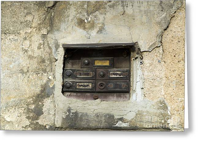 Doorbell Greeting Cards - Old Doorbells Greeting Card by Michal Boubin