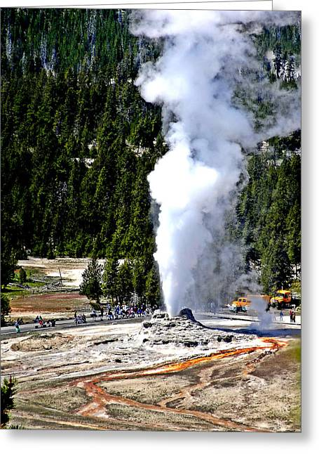 Super Volcano Greeting Cards - Old Faithful Greeting Card by Dan Sproul
