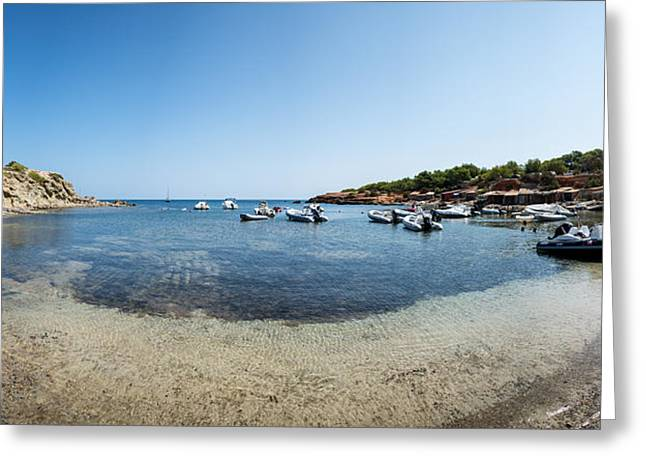 Ibiza Greeting Cards - Old fishing vilage port on Ibiza Greeting Card by Matthew Gibson