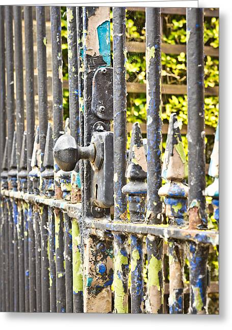 Metalwork Greeting Cards - Old gate Greeting Card by Tom Gowanlock