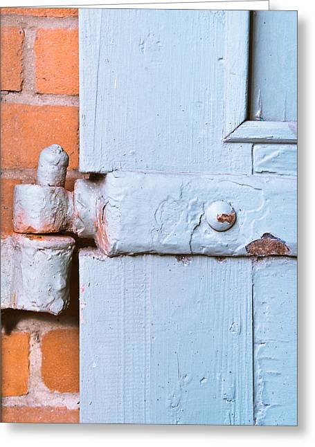 Nail Design Greeting Cards - Old hinge Greeting Card by Tom Gowanlock