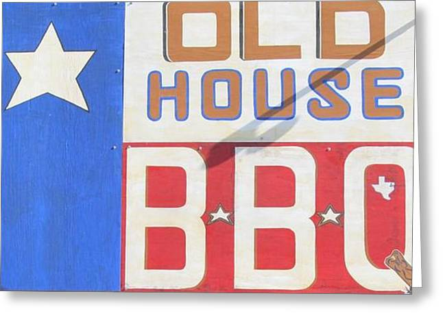 Historical Pictures Greeting Cards - Old House Bbq Greeting Card by Donna Wilson