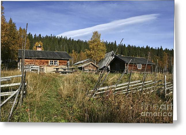 Wooden Building Greeting Cards - Old house Greeting Card by IB Photo