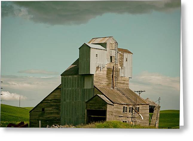 Grain Mill Greeting Cards - Old Idaho Grain Elevator Greeting Card by Mountain Dreams