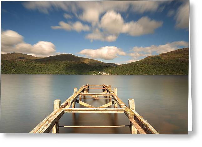 Wooden Platform Greeting Cards - Old Jetty Greeting Card by Maria Gaellman