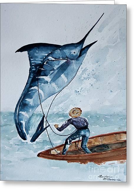 Old Man And The Sea Greeting Card by Barbara McMahon