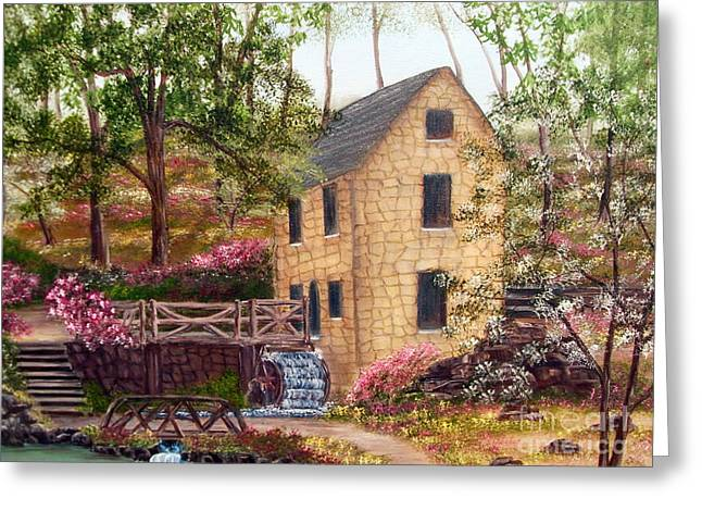 Griss Greeting Cards - Old Mill North Little Rock Arkansas Greeting Card by Vivian Cook