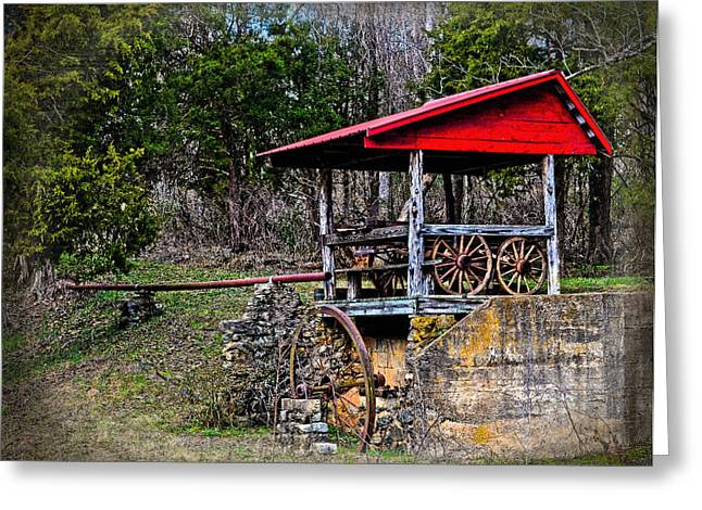 Old Mill Of Guilford Pumphouse Greeting Card by Sandi OReilly