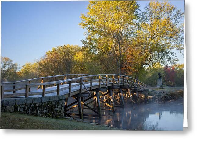 Old North Bridge Greeting Card by Brian Jannsen