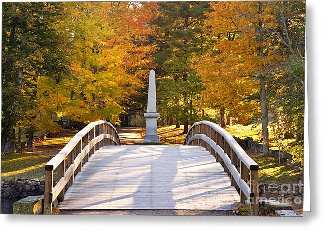 Waldo Greeting Cards - Old North Bridge Concord Greeting Card by Brian Jannsen