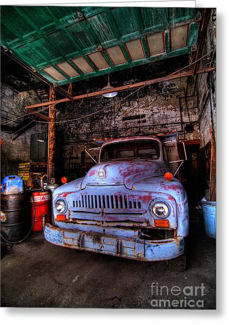 Pickup Truck Door Greeting Cards - Old Pickup Truck HDR Greeting Card by Amy Cicconi