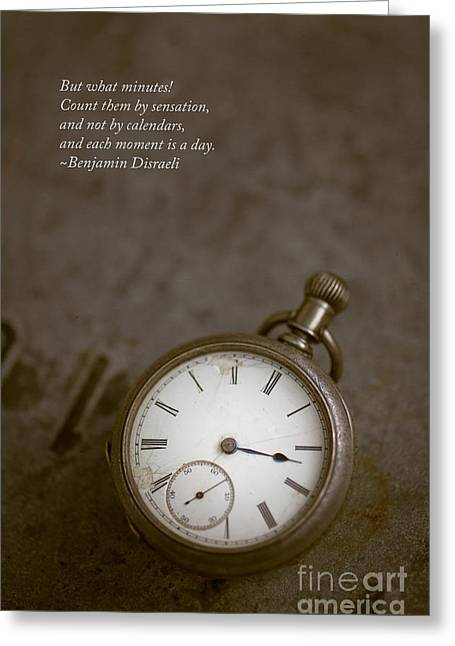 Brown Tone Greeting Cards - Old pocket watch Greeting Card by Edward Fielding