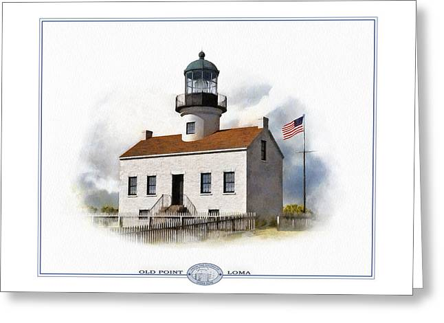 Summer Storm Greeting Cards - Old Point Loma Lighthouse Greeting Card by Harry Hine