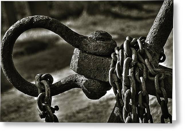 Old Rusty Anchor Greeting Card by Erik Brede