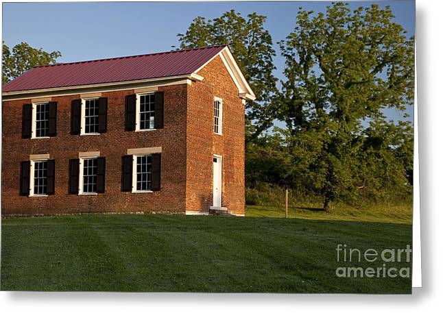 Old Schoolhouse Greeting Card by Brian Jannsen