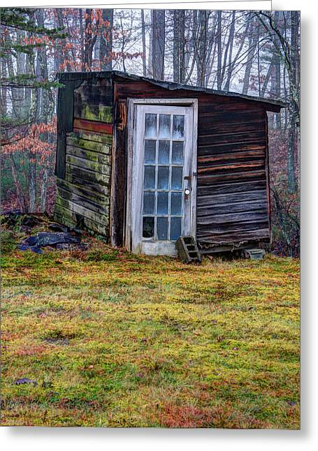 Recently Sold -  - Outbuildings Greeting Cards - Old Shack Greeting Card by J Scott Davidson