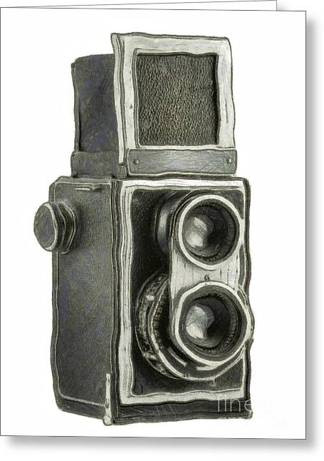Aperture Greeting Cards - Old Still Camera Greeting Card by Michal Boubin