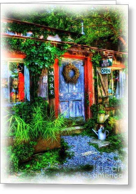 Small Towns Greeting Cards - Old Stuff Greeting Card by Mel Steinhauer
