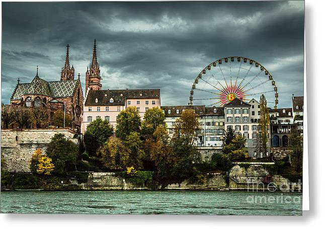 Swiss Photographs Greeting Cards - Old Town Ferris Wheel Greeting Card by Stephen Allen