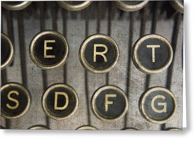 Typewriter Greeting Cards - Old typewrater Greeting Card by Bernard Jaubert
