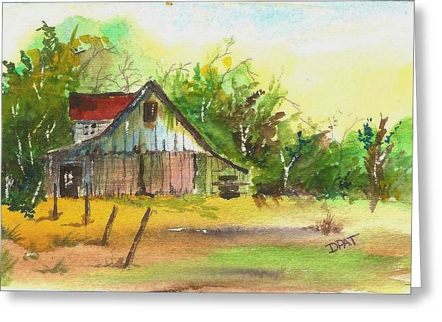 Replacing Paintings Greeting Cards - Old western ranch barn Greeting Card by David Patrick
