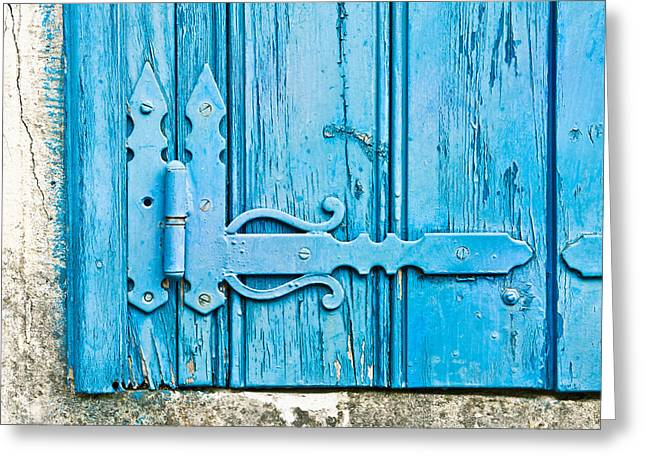 Old Relics Greeting Cards - Old wooden door Greeting Card by Tom Gowanlock
