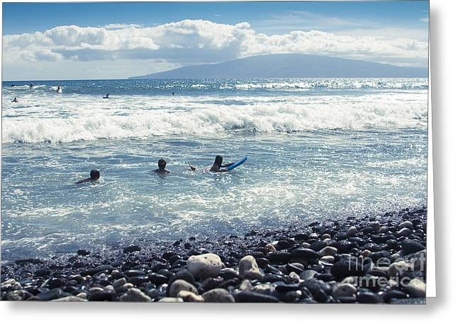 My Ocean Greeting Cards - Olowalu Maui Hawaii Greeting Card by Sharon Mau