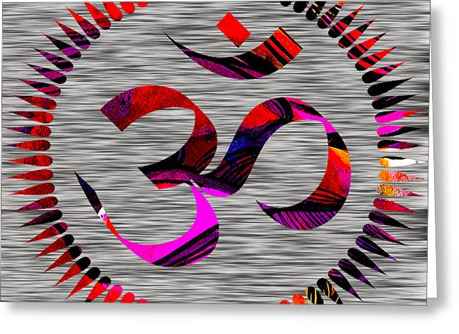 Yoga Greeting Cards - Om Greeting Card by Marvin Blaine