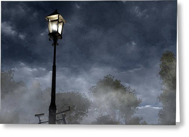 Ominous Avenue Greeting Card by Cynthia Decker