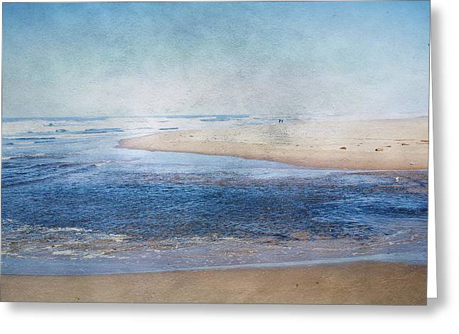 Sandy Beaches Greeting Cards - On a Clear Day Greeting Card by Bonnie Bruno