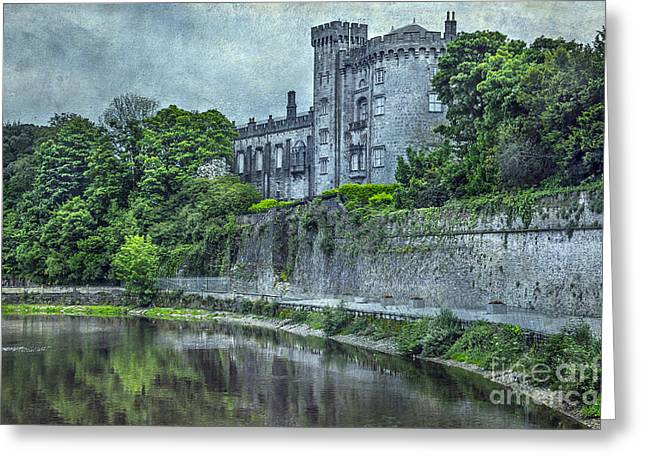 Haze Mixed Media Greeting Cards - Castle Greeting Card by Svetlana Sewell