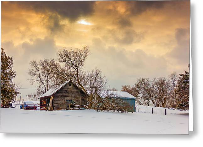 Ontario Landscape Print Greeting Cards - On a Winter Day Greeting Card by Steve Harrington