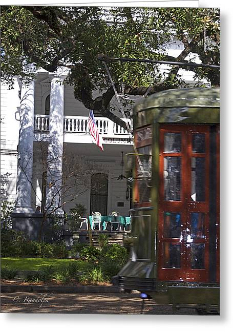 St Charles Avenue Greeting Cards - On The Avenue Greeting Card by Cheri Randolph