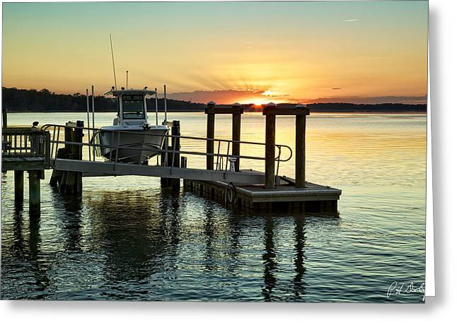 Tidal Photographs Greeting Cards - On the Waterfront Greeting Card by Phill  Doherty